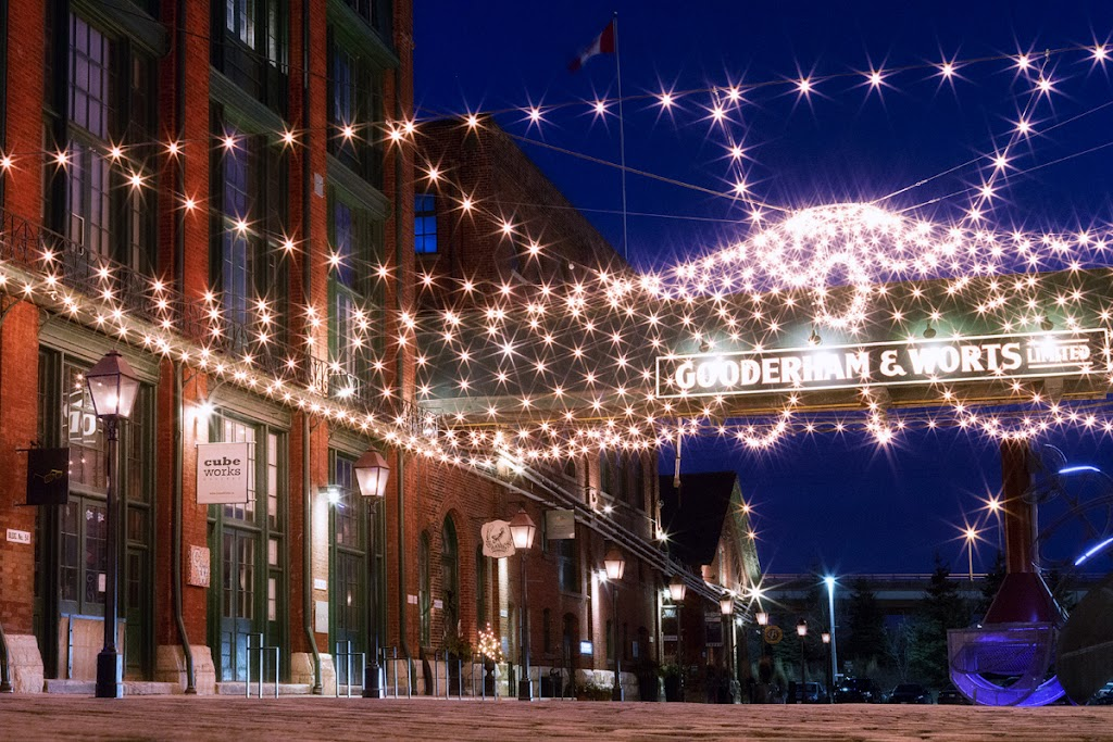 Distillery District at night