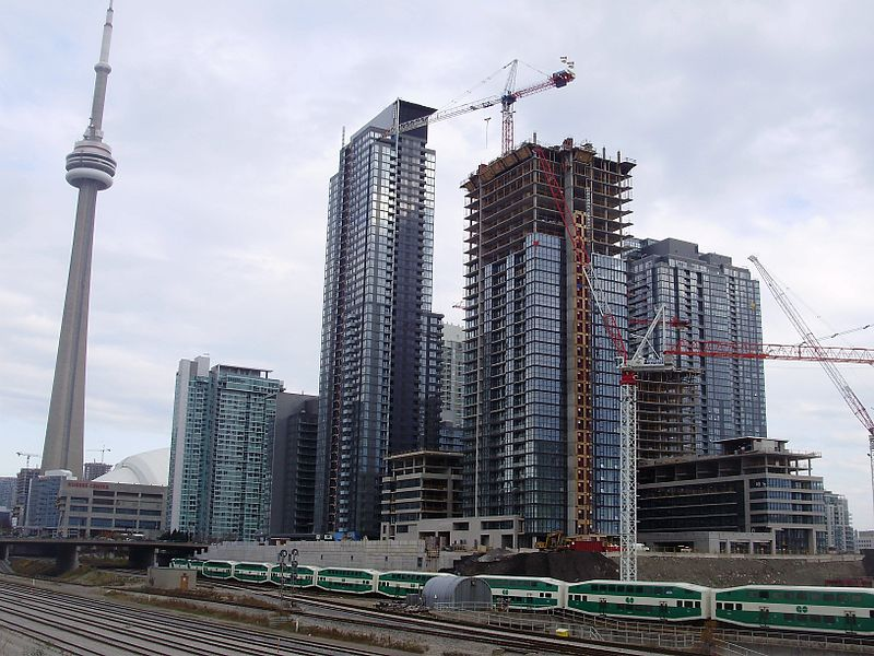 Building in development in Toronto