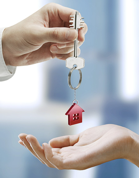 giving the home keys
